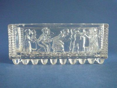 Sowerby Nursery Rhyme Flint Glass 'Oranges and Lemons' Posy Trough c1875 (Sold)